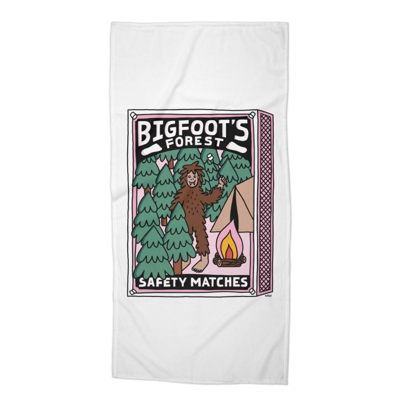 Bigfoot's Forest Safety Matches Accessories Beach Towel by Katdog
