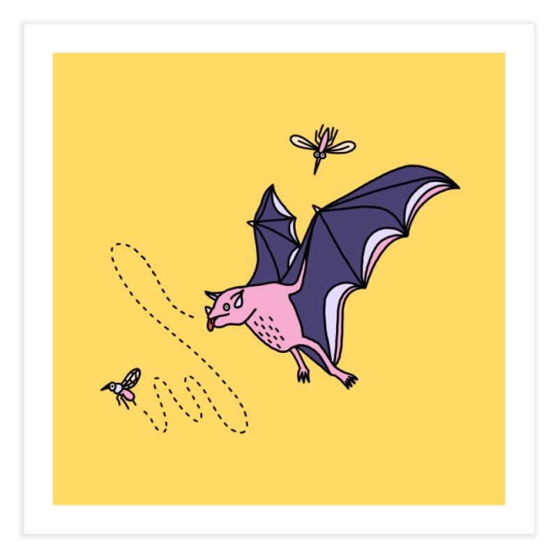 Hungry Bat Home Fine Art Print by Katdog