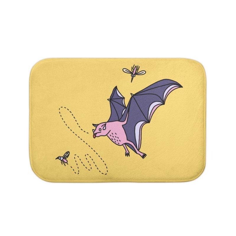 Hungry Bat Home Bath Mat by Katdog