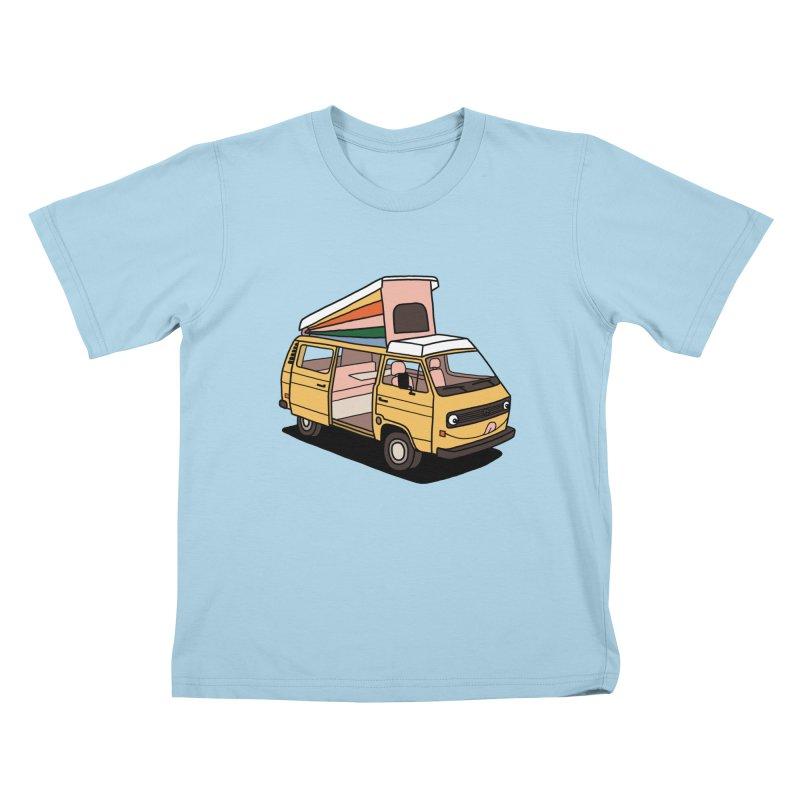 Smiley VW Westfalia Vanagon Kids T-Shirt by Katdog