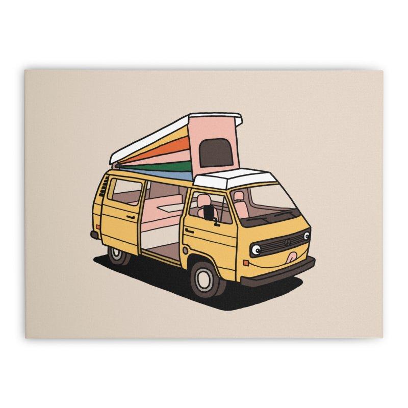Smiley VW Westfalia Vanagon Home Stretched Canvas by Katdog