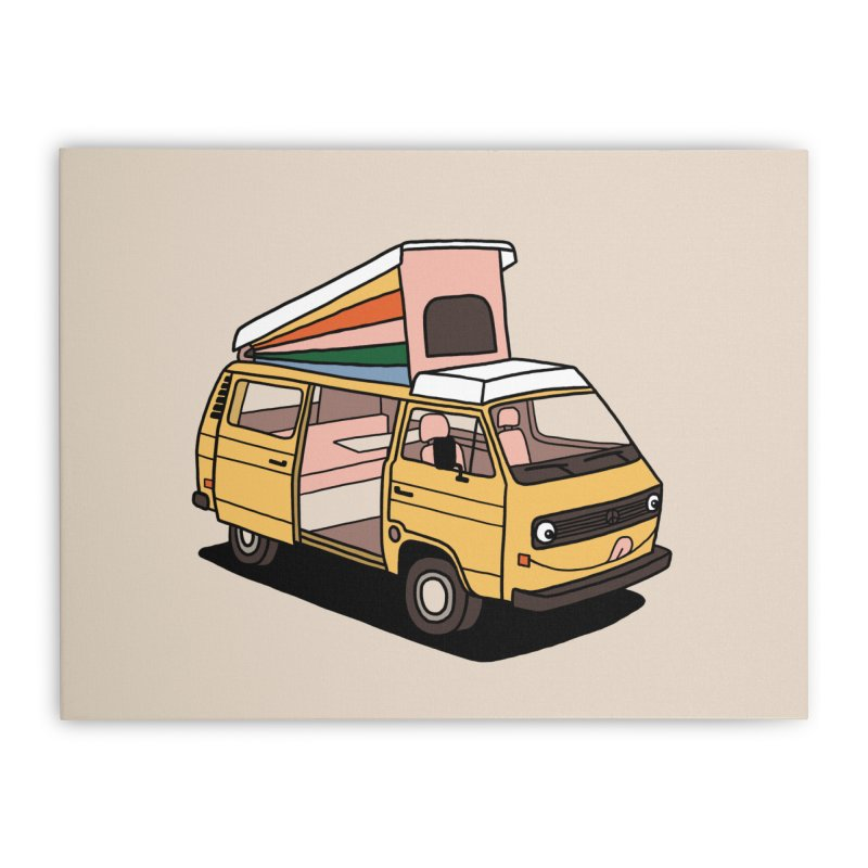 Smiley VW Westfalia Vanagon Home Stretched Canvas by Katdog