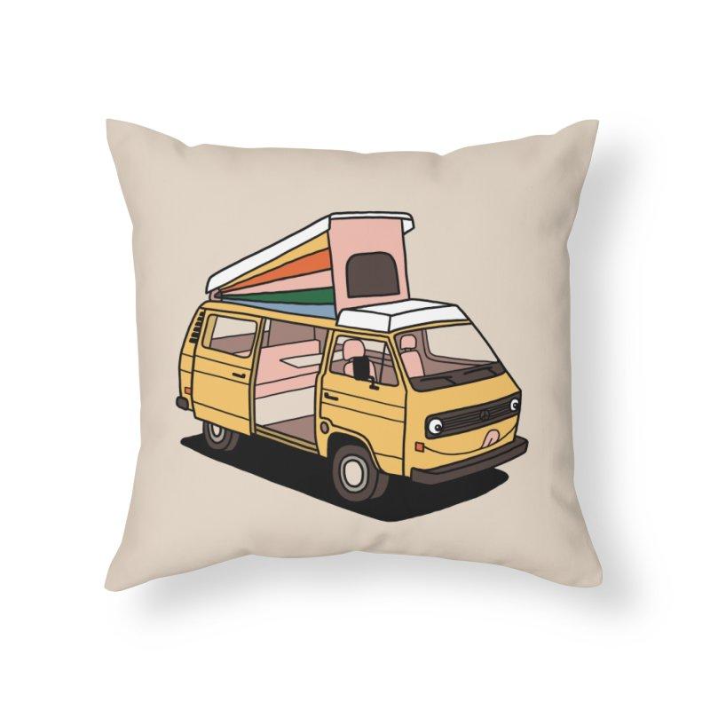 Smiley VW Westfalia Vanagon Home Throw Pillow by Katdog