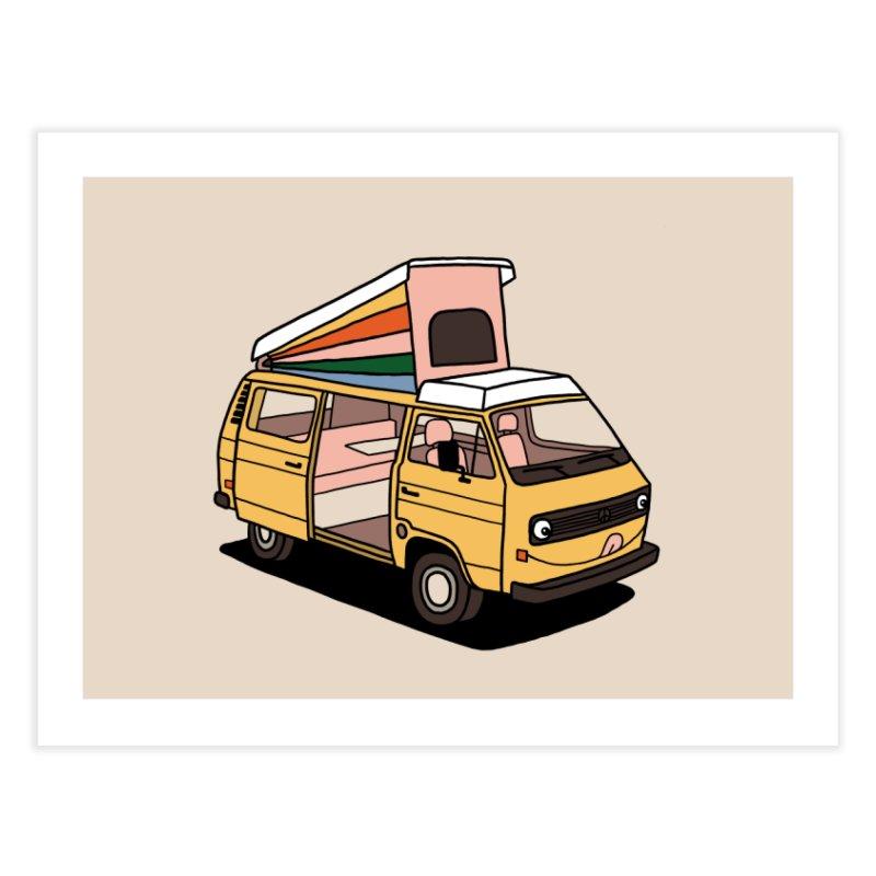 Smiley VW Westfalia Vanagon Home Fine Art Print by Katdog