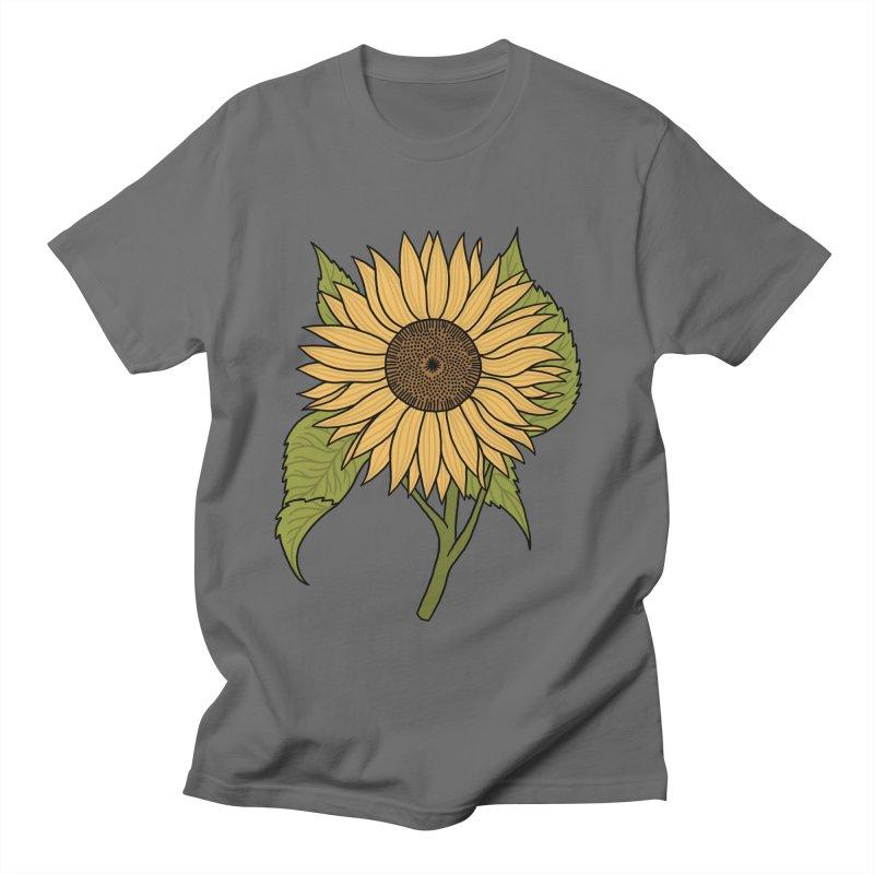 Bright Sunflower Men's T-Shirt by Katdog