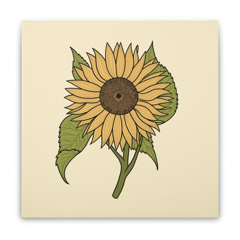 Bright Sunflower Home Stretched Canvas by Katdog