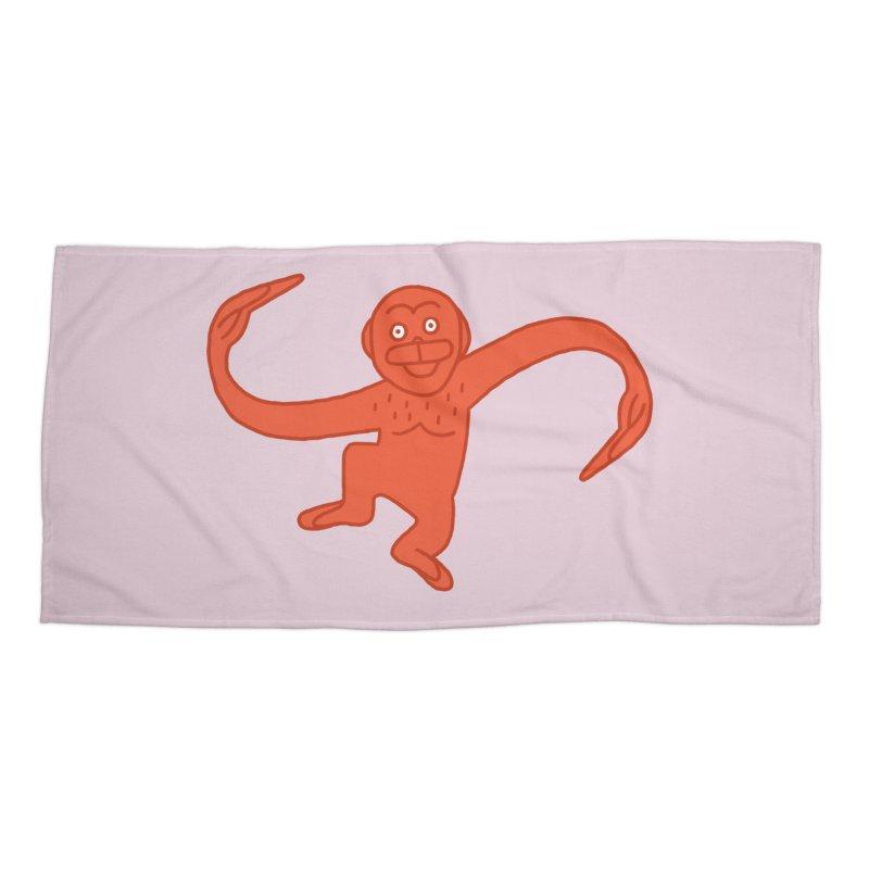 Monkey Chain Accessories Beach Towel by Katdog