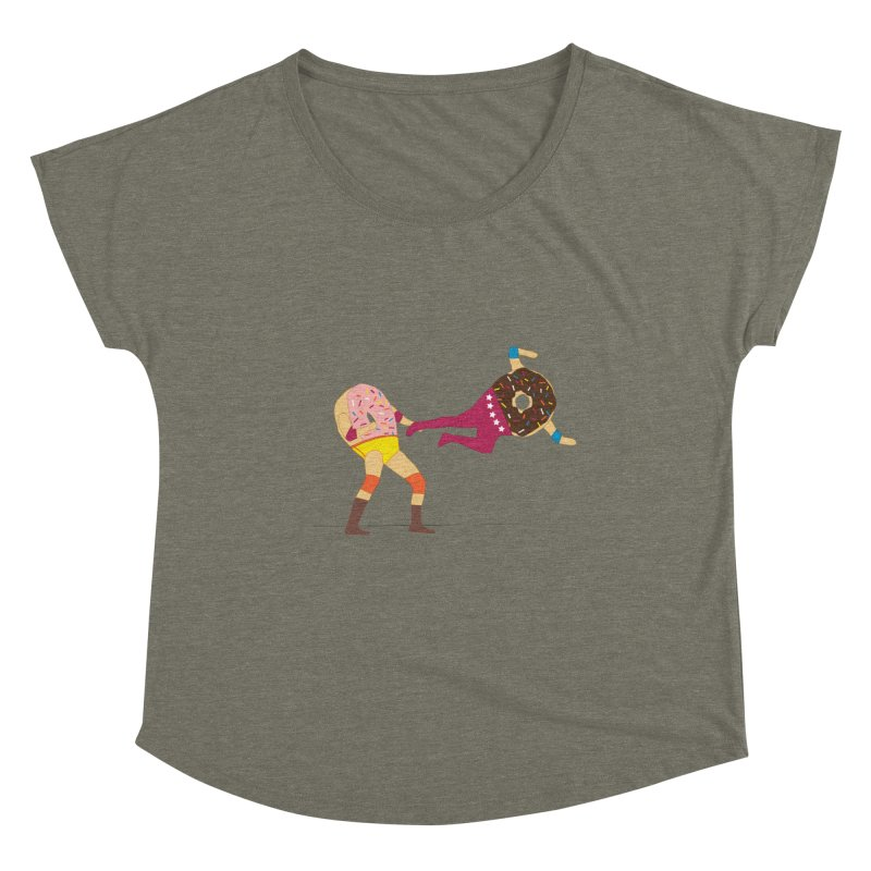 Dropkicks and Donuts Women's Scoop Neck by kateforay's Shop