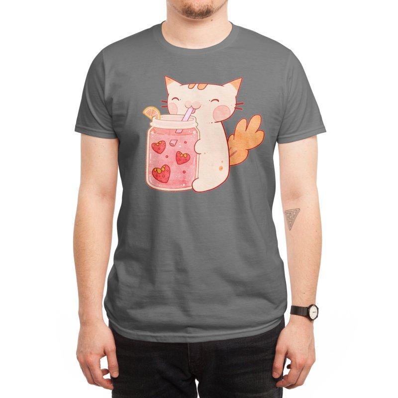 Pink Lemonade Cat Men's T-Shirt by katefunny's shop