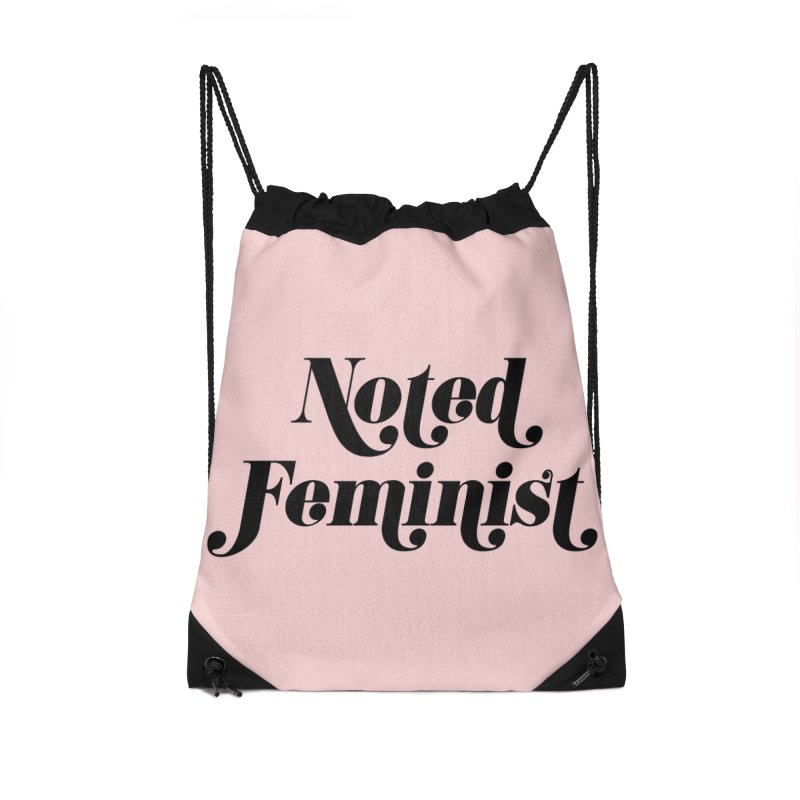 Noted feminist Accessories Drawstring Bag Bag by Kate Gabrielle's Artist Shop