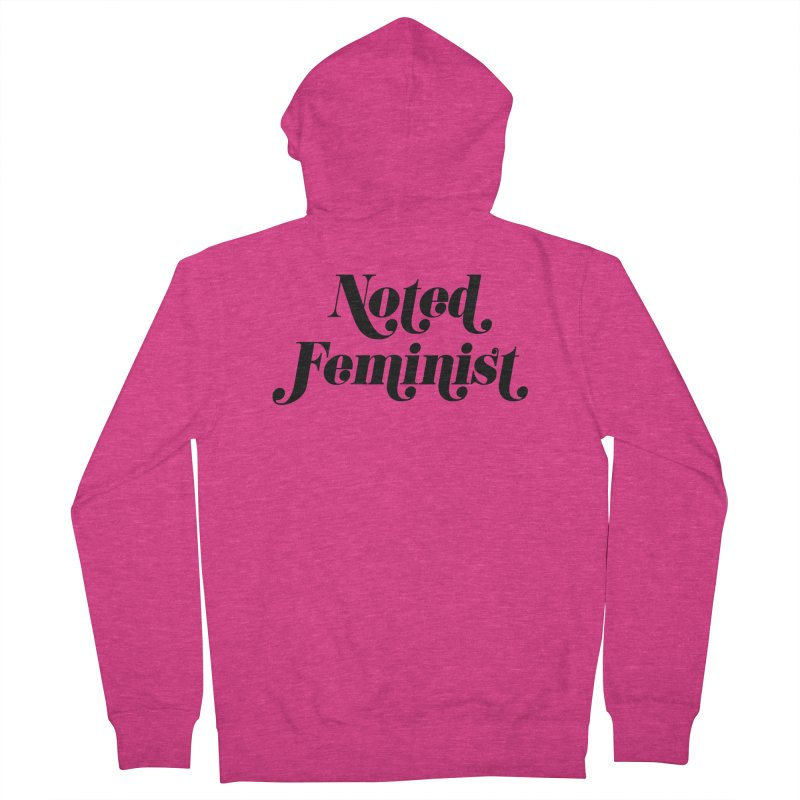 Noted feminist Women's French Terry Zip-Up Hoody by Kate Gabrielle's Artist Shop
