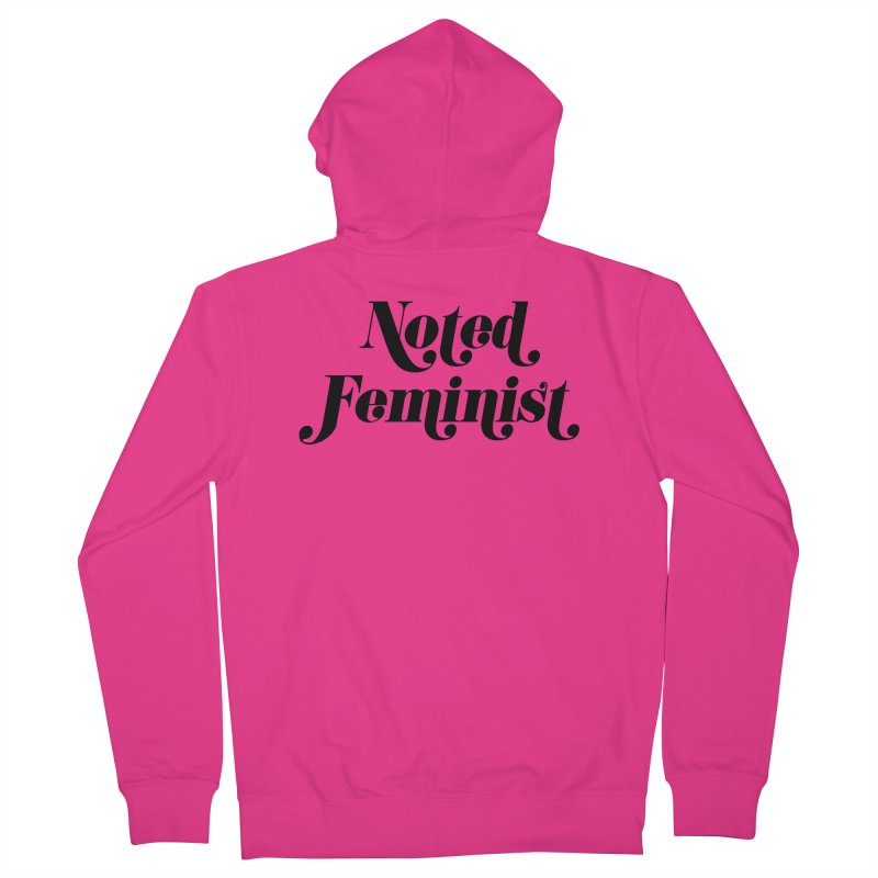 Noted feminist Men's French Terry Zip-Up Hoody by Kate Gabrielle's Artist Shop