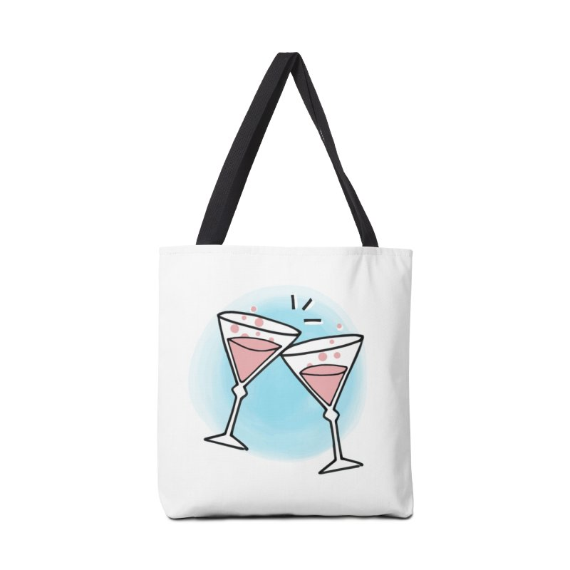 Pink champagne Accessories Tote Bag Bag by Kate Gabrielle's Artist Shop