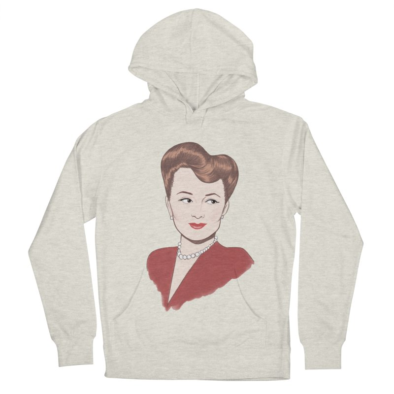 Olivia de Havilland Women's French Terry Pullover Hoody by Kate Gabrielle's Artist Shop