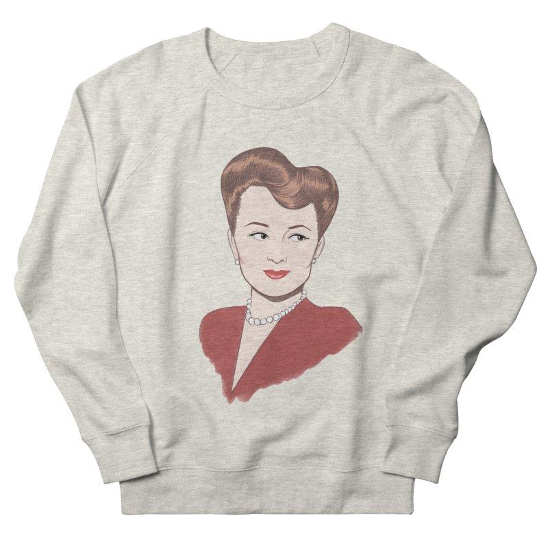 Olivia de Havilland Women's French Terry Sweatshirt by Kate Gabrielle's Artist Shop