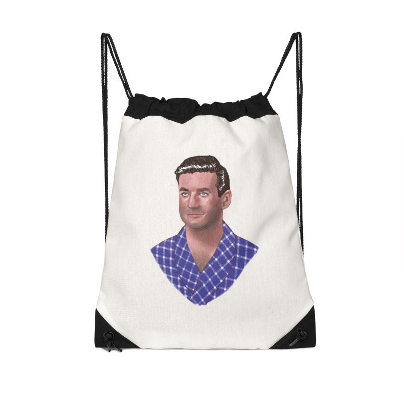 Rod Taylor in Sunday in New York Accessories Drawstring Bag Bag by Kate Gabrielle's Artist Shop