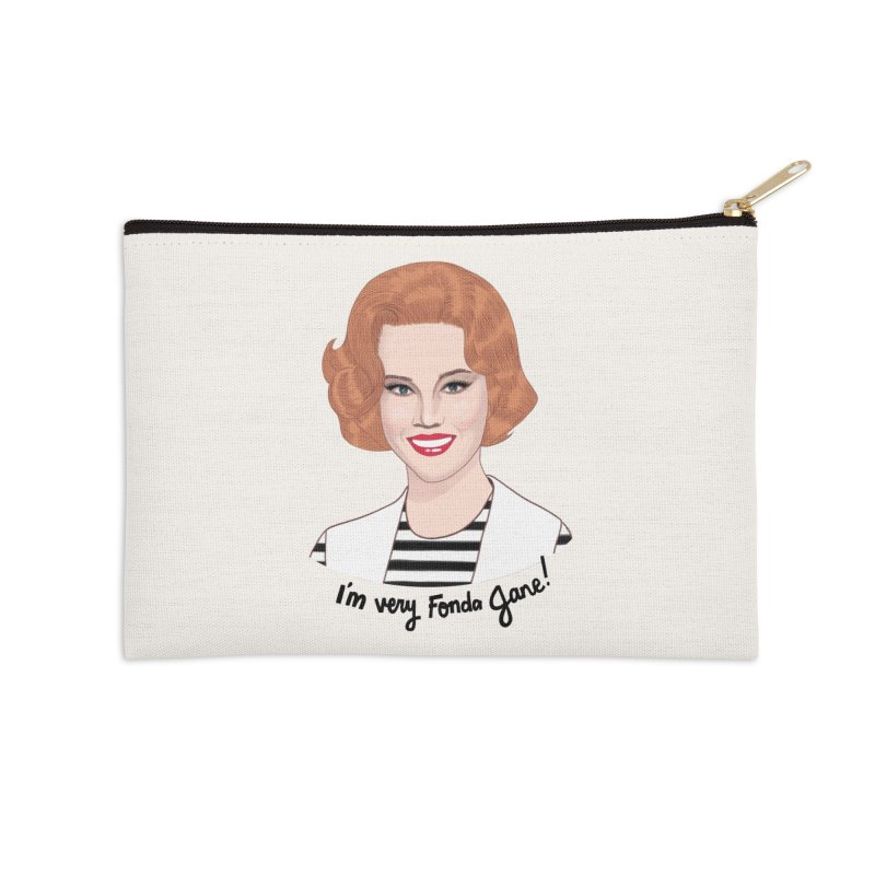 I'm very Fonda Jane! Accessories Zip Pouch by Kate Gabrielle's Threadless Shop