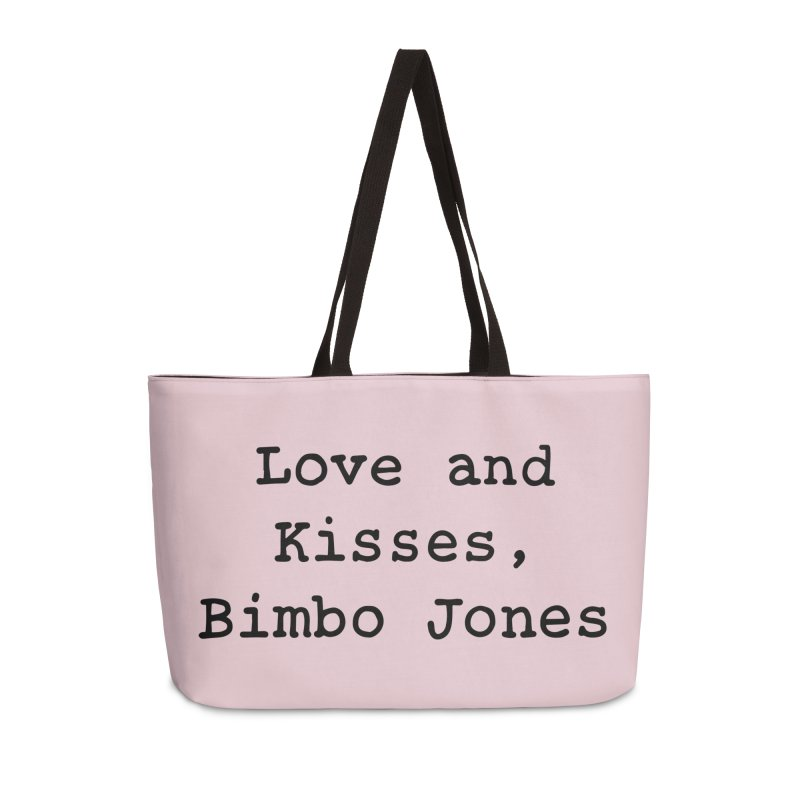 Love and Kisses, Bimbo Jones Accessories Weekender Bag Bag by Kate Gabrielle's Threadless Shop