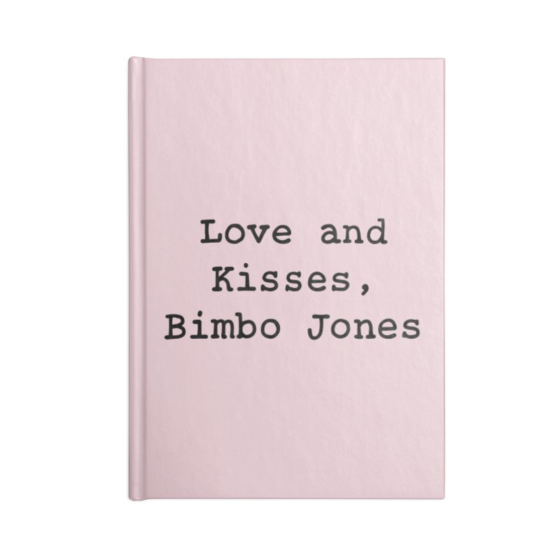 Love and Kisses, Bimbo Jones Accessories Lined Journal Notebook by Kate Gabrielle's Threadless Shop