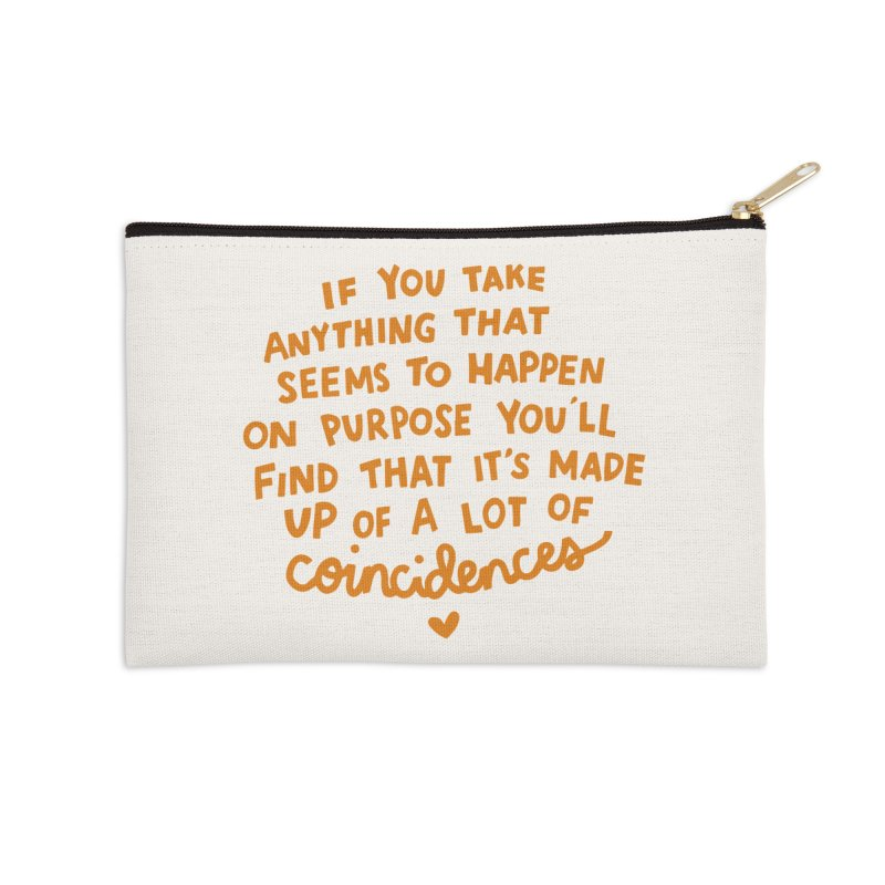 Coincidences Accessories Zip Pouch by Kate Gabrielle's Threadless Shop