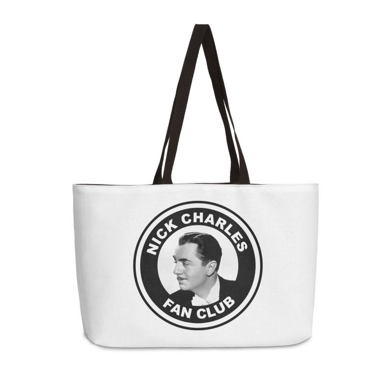 Nick Charles Fan Club Accessories Weekender Bag Bag by Kate Gabrielle's Threadless Shop