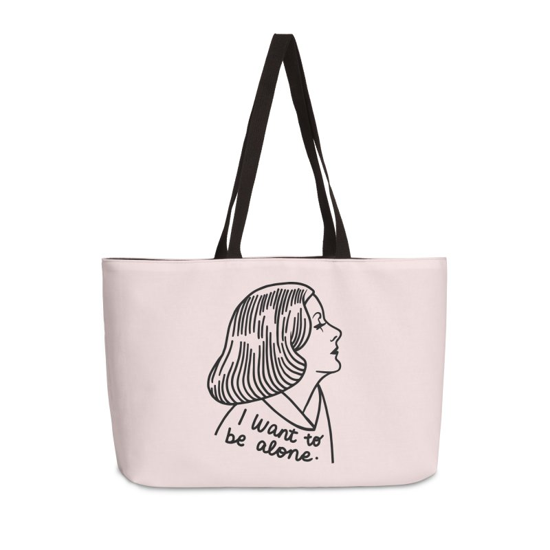 I want to be alone Accessories Weekender Bag Bag by Kate Gabrielle's Threadless Shop