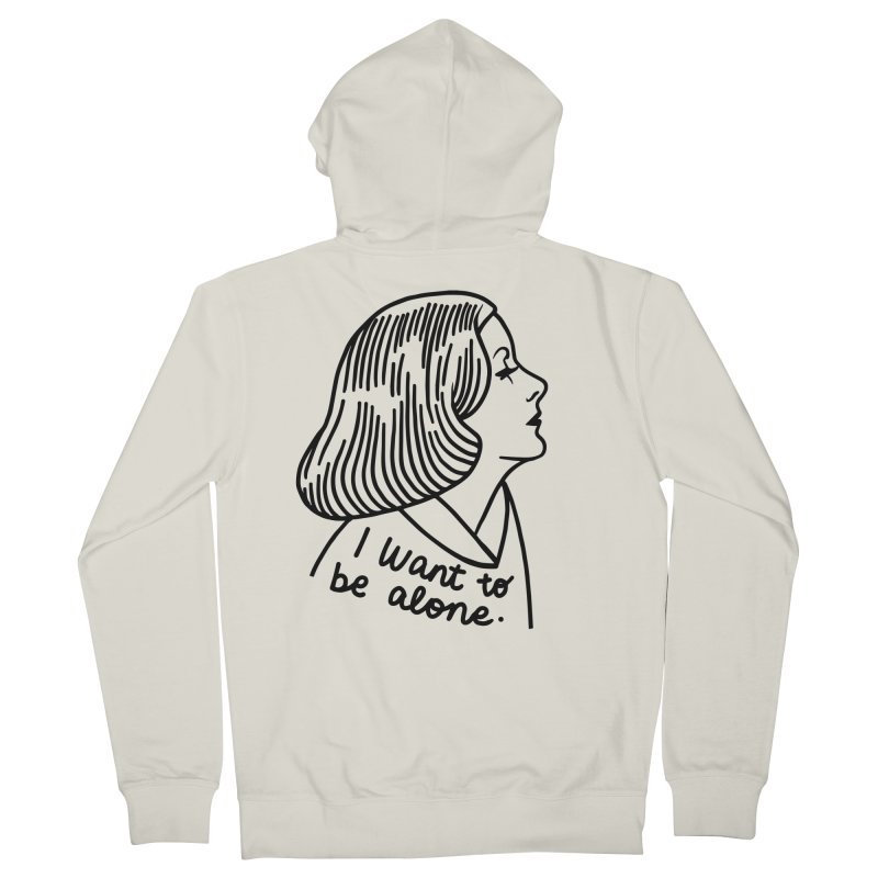 I want to be alone Men's French Terry Zip-Up Hoody by Kate Gabrielle's Threadless Shop