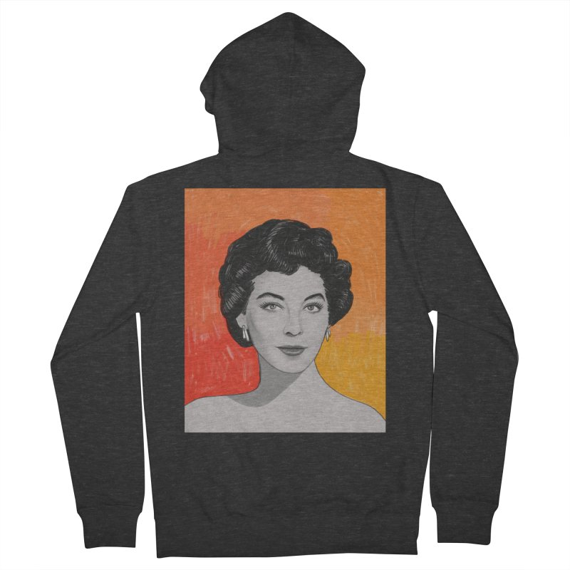Ava Gardner Men's French Terry Zip-Up Hoody by Kate Gabrielle's Threadless Shop