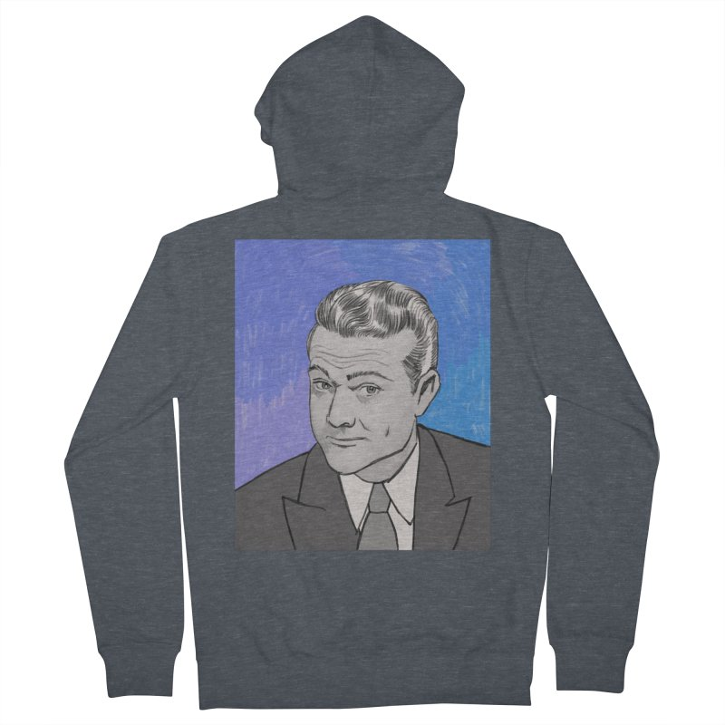 Red Skelton Men's French Terry Zip-Up Hoody by Kate Gabrielle's Threadless Shop