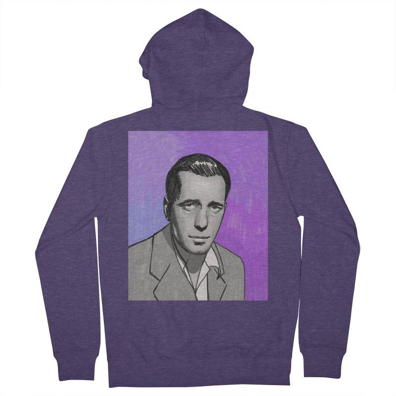 Humphrey Bogart Men's French Terry Zip-Up Hoody by Kate Gabrielle's Threadless Shop