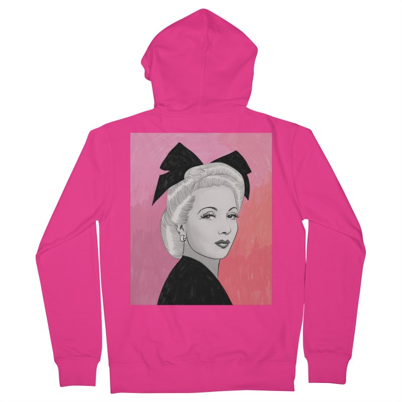 Ann Sothern Men's French Terry Zip-Up Hoody by Kate Gabrielle's Threadless Shop