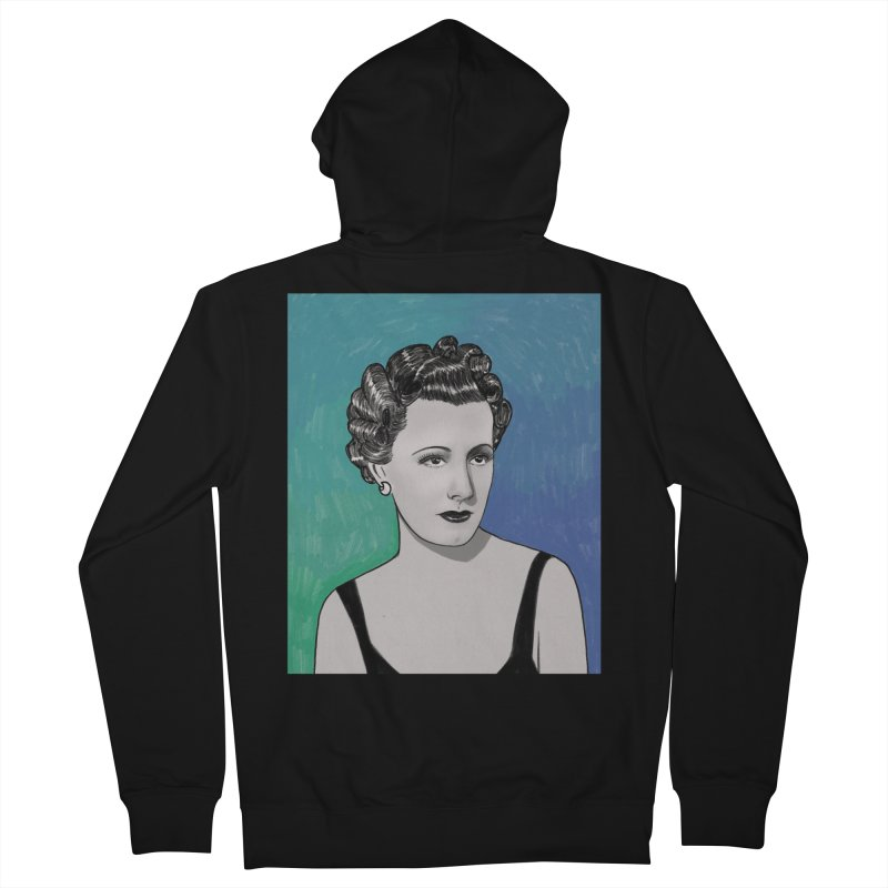 Irene Dunne Men's French Terry Zip-Up Hoody by Kate Gabrielle's Threadless Shop