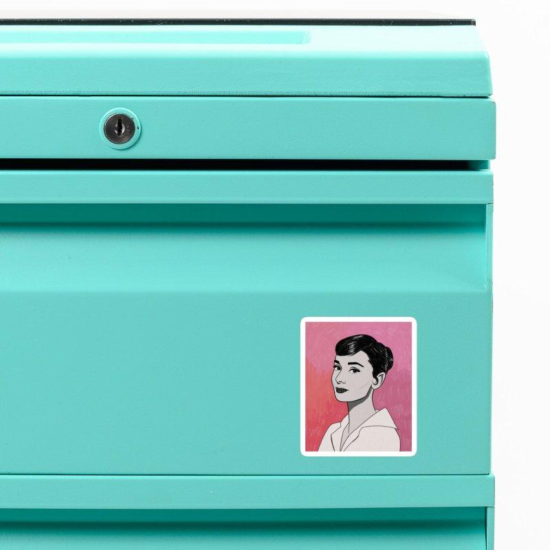 Audrey Hepburn Accessories Magnet by Kate Gabrielle's Threadless Shop