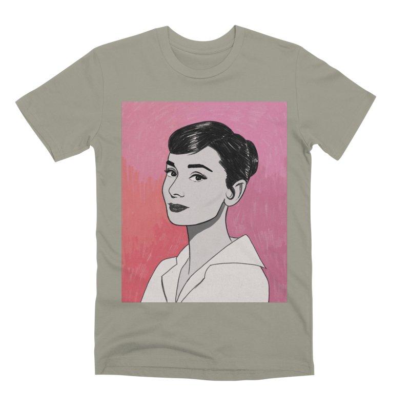 Audrey Hepburn Men's Premium T-Shirt by Kate Gabrielle's Threadless Shop
