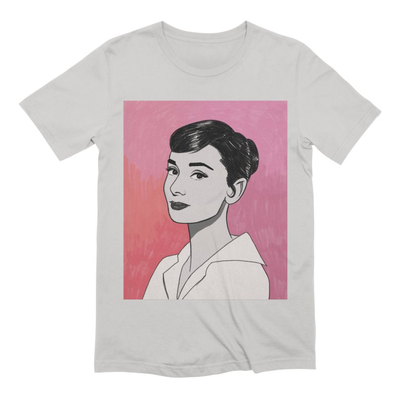 Audrey Hepburn Men's Extra Soft T-Shirt by Kate Gabrielle's Threadless Shop