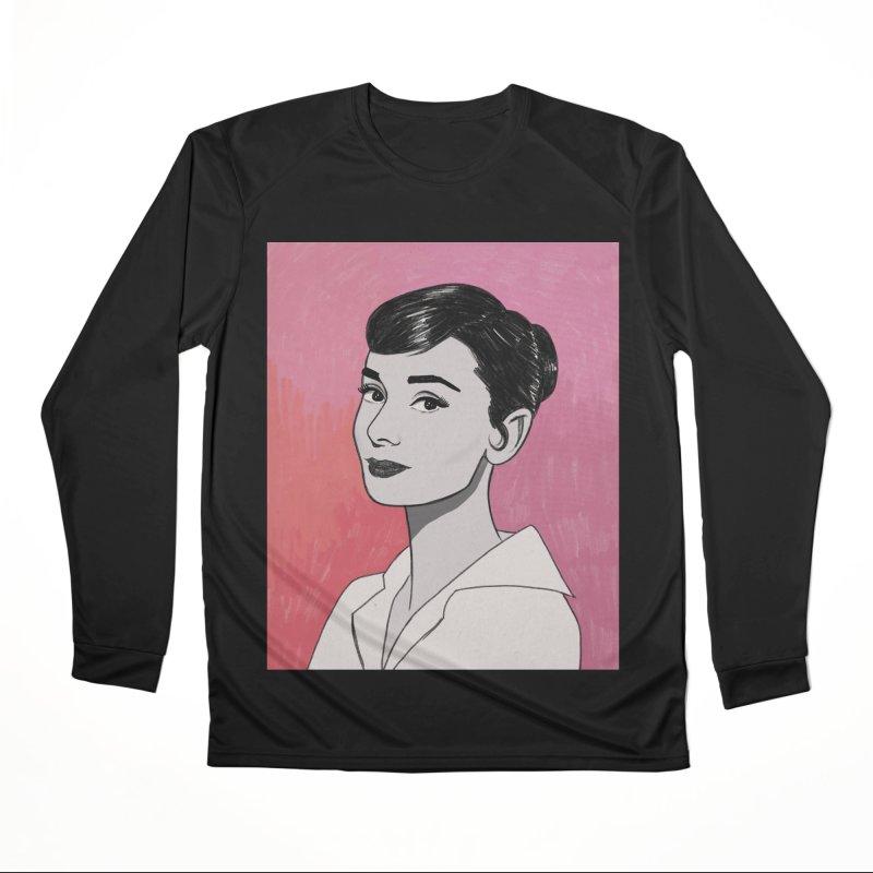 Audrey Hepburn Women's Performance Unisex Longsleeve T-Shirt by Kate Gabrielle's Threadless Shop