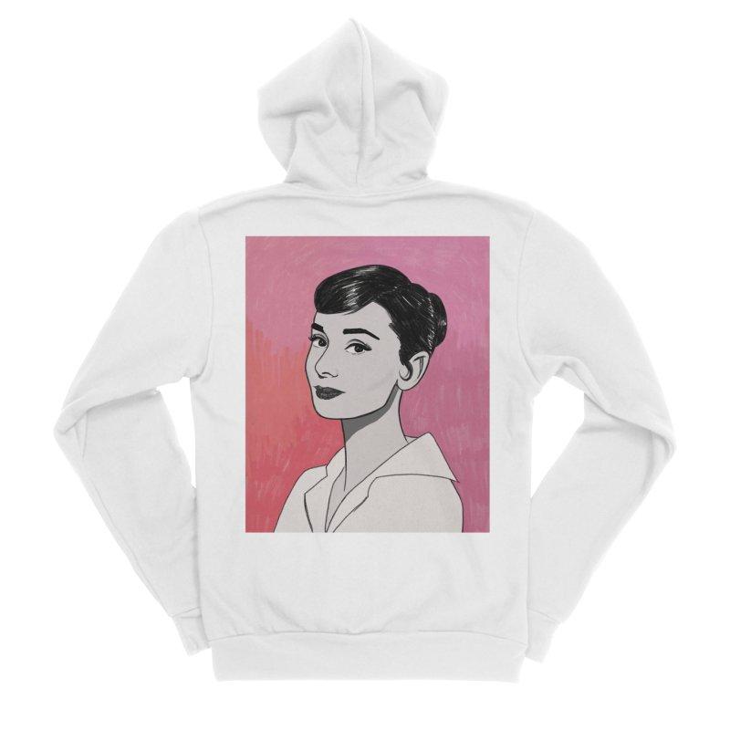 Audrey Hepburn Women's Sponge Fleece Zip-Up Hoody by Kate Gabrielle's Threadless Shop