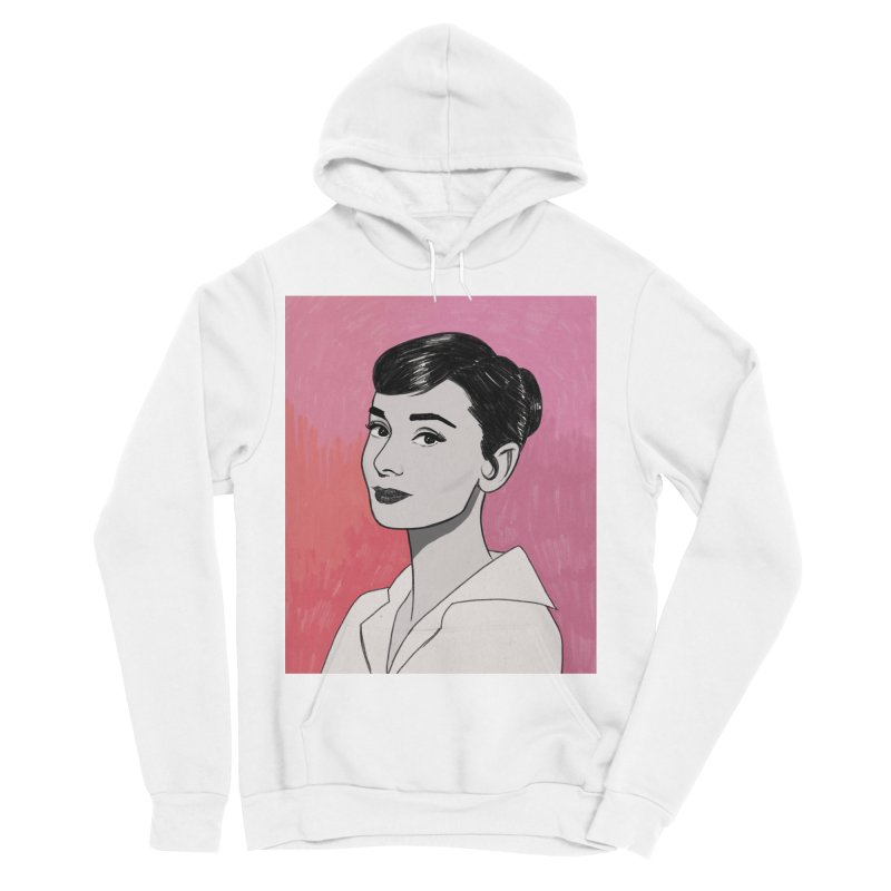 Audrey Hepburn Women's Sponge Fleece Pullover Hoody by Kate Gabrielle's Threadless Shop