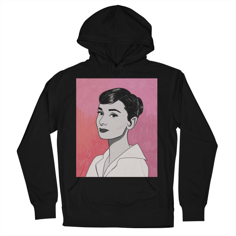 Audrey Hepburn Men's French Terry Pullover Hoody by Kate Gabrielle's Threadless Shop