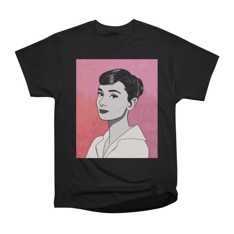 Audrey Hepburn Women's Heavyweight Unisex T-Shirt by Kate Gabrielle's Threadless Shop
