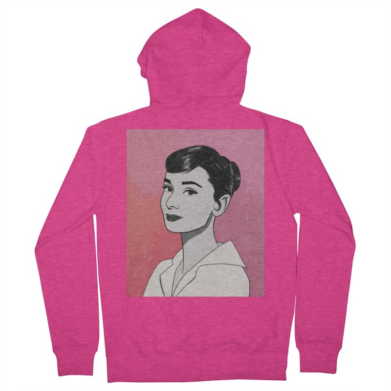 Audrey Hepburn Women's French Terry Zip-Up Hoody by Kate Gabrielle's Threadless Shop