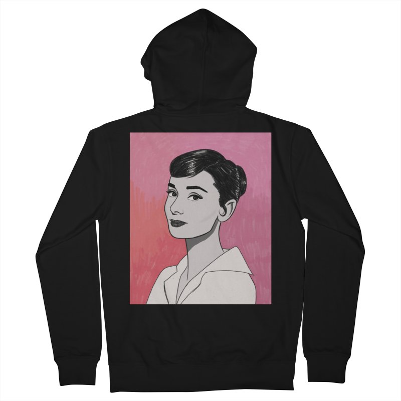 Audrey Hepburn Men's French Terry Zip-Up Hoody by Kate Gabrielle's Threadless Shop