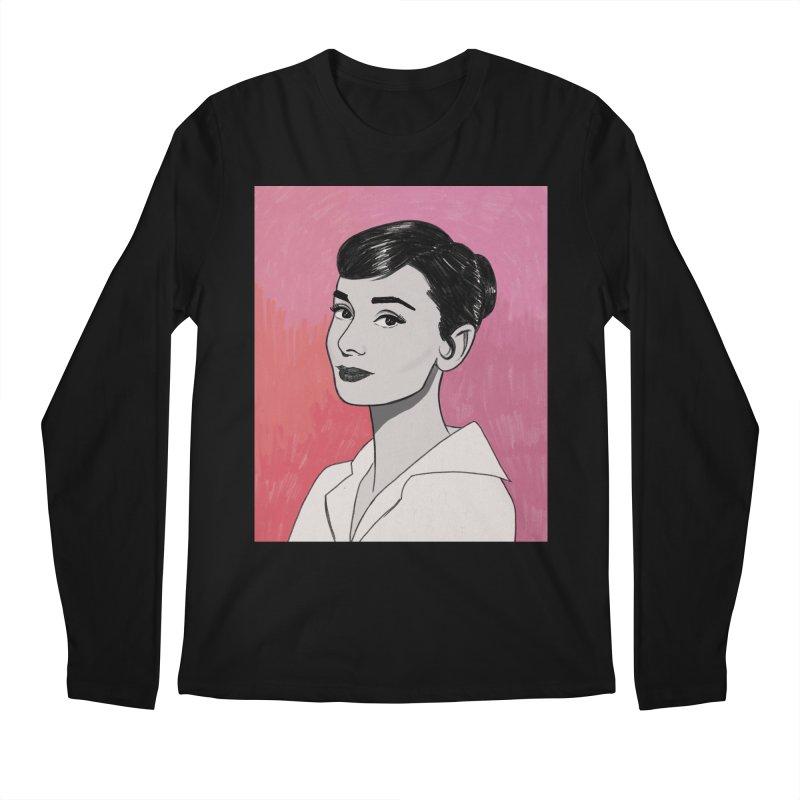 Audrey Hepburn Men's Regular Longsleeve T-Shirt by Kate Gabrielle's Threadless Shop