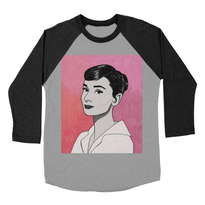 Audrey Hepburn Men's Baseball Triblend Longsleeve T-Shirt by Kate Gabrielle's Threadless Shop