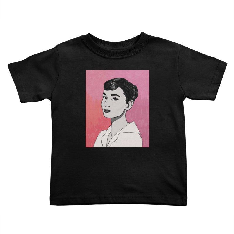 Audrey Hepburn Kids Toddler T-Shirt by Kate Gabrielle's Threadless Shop