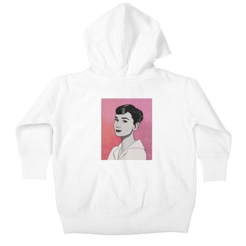 Audrey Hepburn Kids Baby Zip-Up Hoody by Kate Gabrielle's Threadless Shop