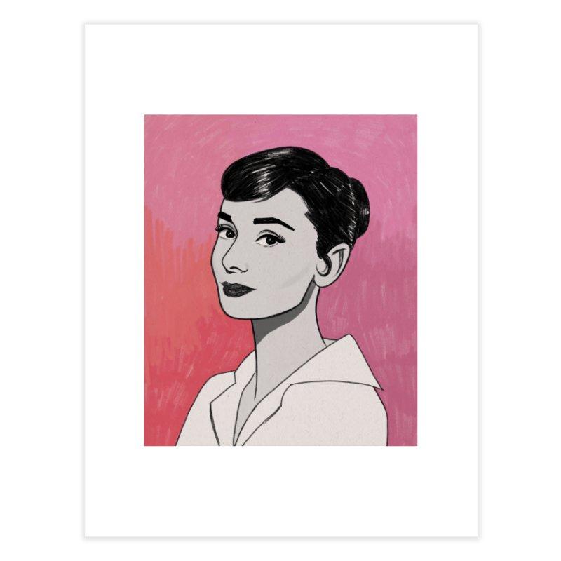 Audrey Hepburn Home Fine Art Print by Kate Gabrielle's Threadless Shop