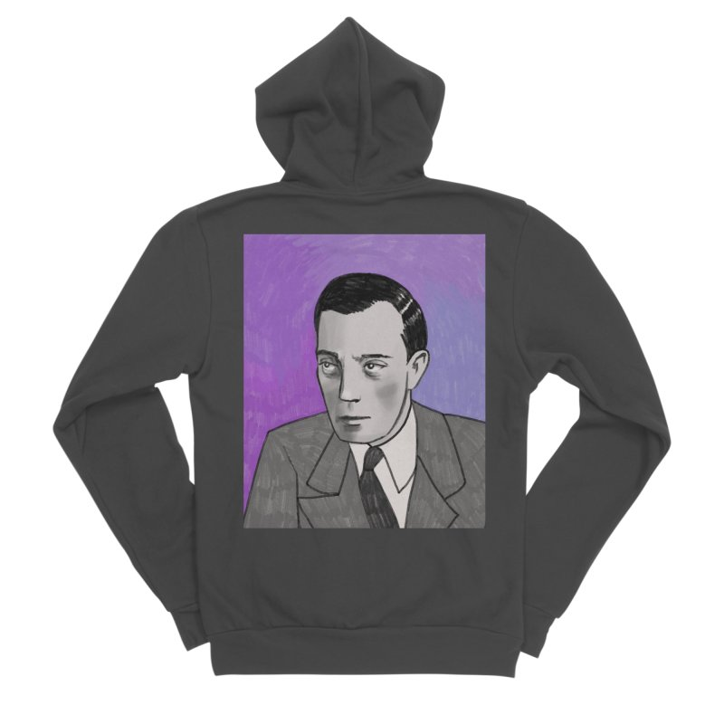 Buster Keaton Men's Sponge Fleece Zip-Up Hoody by Kate Gabrielle's Threadless Shop