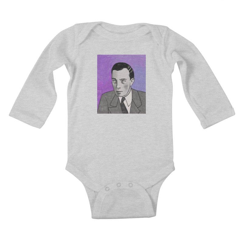 Buster Keaton Kids Baby Longsleeve Bodysuit by Kate Gabrielle's Threadless Shop