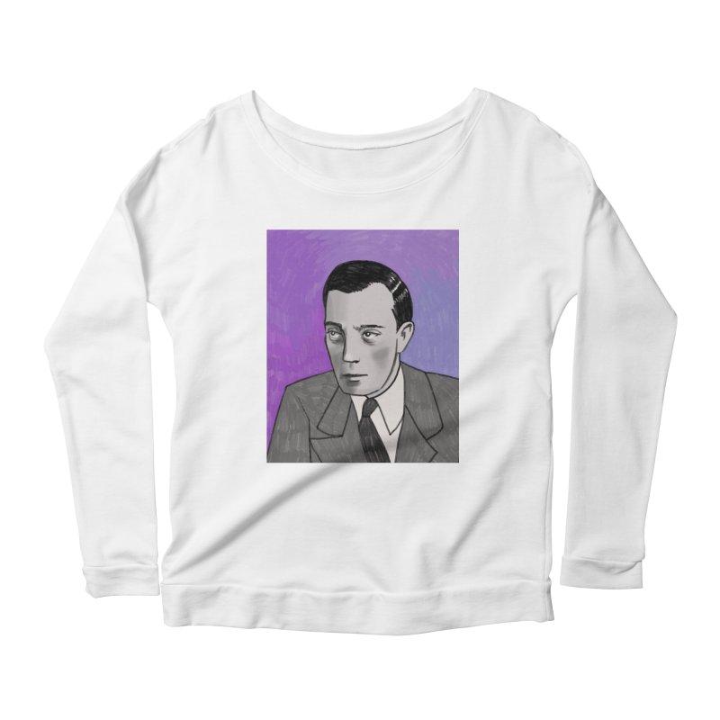 Buster Keaton Women's Scoop Neck Longsleeve T-Shirt by Kate Gabrielle's Threadless Shop
